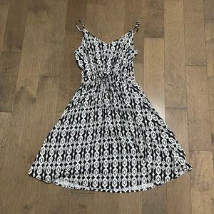 Tie waist bohemian dress